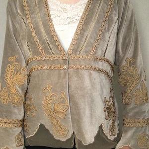 Nataya Jackets & Coats - Nataya Vintage Velvet Jacket EUC